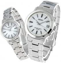 SEIKO Pair Watch With Pair Box With Wrapping Spirit Radio Solar Silver SBTM167 SSDY017 Men'sWomen's