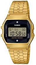 A159WGED-1JF Men's gold with CASIO Wristwatch Standard natural diamond