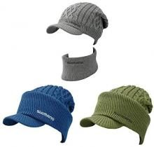 SHIMANO Fishing Hat Low Gauge 2WAY Knit Watch CA-075T Free Charcoal