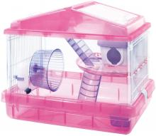 IRIS OHYAMA Hamster Cage 2nd Floor Clear Pink
