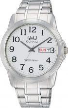 CITIZEN Q&Q Day & Date A142-214 Sil...