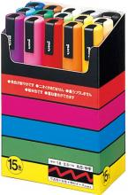 Mitubishi Aqueous Pen Poska Medium Character Round Core 15 Colors PC5M15C