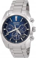SEIKO ASTRON SBXC049 Wristwatch, Solar GPS Satellite Radio Correction, World Time Function, Dual Time Display, Dual Curved Sapphire Glass, Diamond Shield, Men's Silver