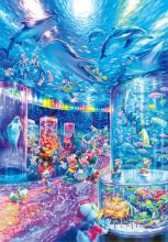 1000 Piece Jigsaw Puzzle Disney Night Aquarium [Glowing Puzzle] (51x73.5cm)