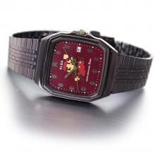 SEIKO ALBA Super Mario Collaboration Model Square NES Design Bordeaux Dial Reinforced Waterproof for Daily Life (10 ATM) ACCK420 Brown