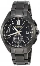 SEIKO BRIGHTZ Solar radio quartz watch 50th anniversary limited 800 pieces (domestic only) All Black Titanium Model Black Swarovski Dial SAGA271 Men's Black