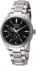 SEIKO Wristwatch Presage Mechanical Prestige Line Titanium Model Black Dial SARW043 Men's Silver