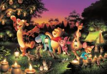 1000 Piece Jigsaw Puzzle Disney Forest Candle Party [Glowing Jigsaw] (51x73.5cm)