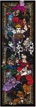 456 Piece Jigsaw Puzzle Disney Villains Stained Glass Gyutto Series [Stained Art] (18.5x55.5cm)