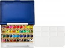 Holbein Solid Watercolor Artist Pan Color 36 Colors Set Resin Case PN698 Half Pan