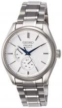 SEIKO Wristwatch Presage Mechanical Prestige Line Titanium Model White Dial SARW041 Men's Silver