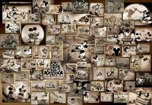 1000Pieces Puzzle Disney Mickey Mouse Monochrome Movie Collection (51x73.5cm)