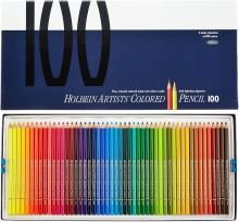Holbein color pencil 100 colors set