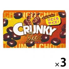 Lotte Cranky Bits Chocolate Candy x 3 [pantry]