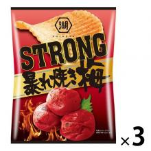 KOIYA-YA KOIKEYA STRONG Potato Chips Rampage Grilled Plum 3 Bags Snack Confectionery