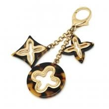 LOUIS VUITTON Ansolence Monogram Keychain Bag Charm GP Brown Marble M65087 (Used)