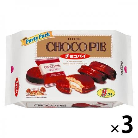 Lotte Choco Pie Party Pack Chocolate Sweets x 3 [pantry]