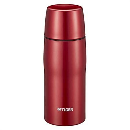 Stainless Steel Bottle with Tiger Cup MJD-A036R (Red) Made in Japan