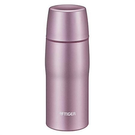 Stainless Steel Bottle with Tiger Cup MJD-A048P (Pink) Made in Japan