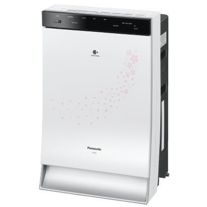 Panasonic Humidifier Air Purifier PM2.5 Supported Suitable Floor Space ~ 66 square meters - Silver Sakura Design