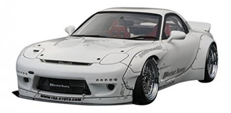 ignitionmodel 1/18 Rocket Bunny RX-7 (FD3S) White Completed Model