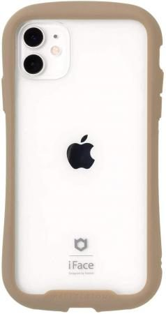 iFace Reflection iPhone 11 Case Clear Tempered Glass (Beige)