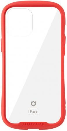 iFace Reflection iPhone 12 Pro Max Case Clear Tempered Glass iPhone2020 6.7 inch (Red)