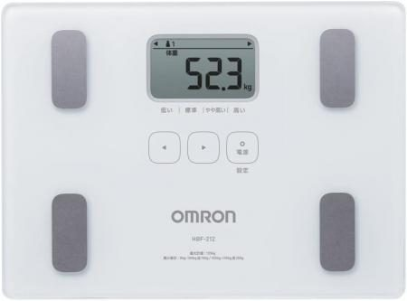OMRON Weight/Body Composition Monitor Body Scan White HBF-212