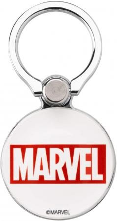 MARVEL iFace Smartphone Ring 360 Degree Rotation Outer Circle (Logo / Red)