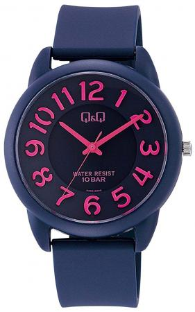 CITIZEN Q&Q Colorful Fashion Analog 10 ATM Waterproof Pink Navy Blue VR68-004 Ladies