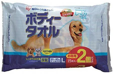 IRIS OHYAMA Body Towel for medium and large dogs 15 pieces x 2 packs