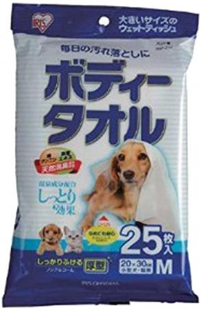 IRIS OHYAMA Body Towel 25 pieces for small dogs and cats