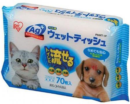 IRIS OHYAMA 70 pieces of wet wipes for pets PNWT-1P