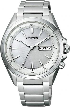 CITIZEN ATTESA Eco-Drive Radio Clock Day & Date Model Disc Type 3 Needle Day & Date AT6040-58A Men's