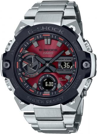 CASIO G-SHOCK G-STEEL Smartphone Link Carbon Core Guard Structure GST-B400AD-1A4JF Men's Silver