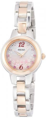 SEIKO SELECTION SAKURA Blooming limited limited 800 pieces Solar radio wave pink gradient dial SWFH106 Ladies Pink Gold
