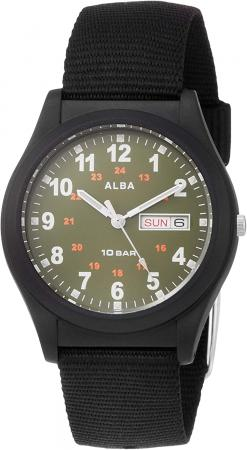 SEIKO Alba Sports Reinforced waterproof for daily life (10 atm) Date and day of the week notation AQPJ408 Black