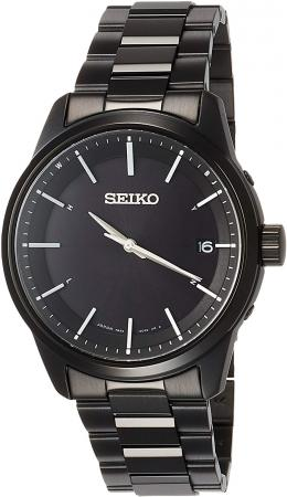 SEIKO SELECTION Basic Solar Radio Stainless Steel Model SBTM257 Men's Black