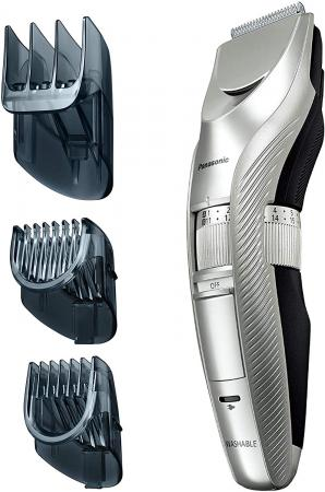 Panasonic hair clipper rechargeable / interchangeable silver tone er-gc72-s