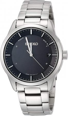 SEIKO SELECTION basic solar radio wave titanium model SBTM249 Men's Silver
