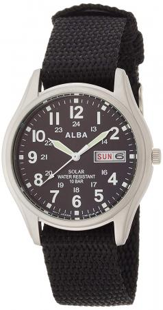SEIKO ALBA solar with date and day display Hard Rex nylon band AEFD557Men's