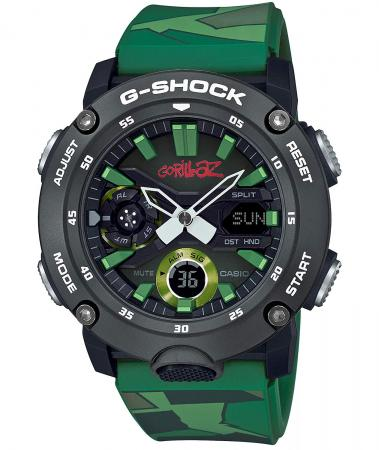 CASIO G-SHOCK GORILLAZ collaboration GA-2000GZ-3AJR men