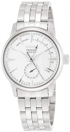 SEIKO PRESAGE Mechanical Cocktail Color 7,000 Limited White Dial Box Type Hard Rex with Power Reserve SARY105Men's Silver