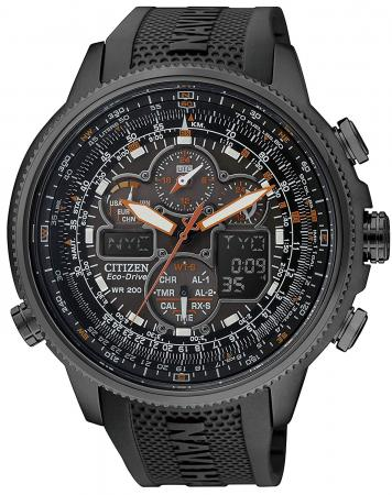 CITIZEN Promaster Eco-drive radio clock chronograph specific store handling model JY8035-04E Men's Black
