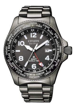 CITIZEN PROMASTER ECO DRIVE LAND Series GMT BJ7107-83EMen's Black