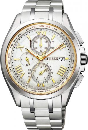 CITIZEN Atessa Eco-drive radio clock Direct flight Pair limited model Limited 2,000 Limited BOX with AT8041-62A Men's Silver