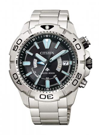Citizen Promaster Eco Drive Radio Clock MARINE Series Diver 200M 2019 Good Design Award Winner AS7141-60E Men's Silver