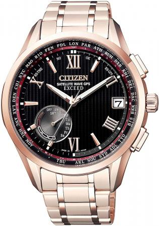 ECXCEED Eco-Drive GPS Radio Clock F150 Direct Flight Rugby Japan Representative Model BRAVE BLOSSOMS Limited Models Limited 800 pieces CC3056-68E Men's Pink Gold