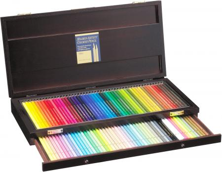 Holbein color pencil 100 colors set wooden box