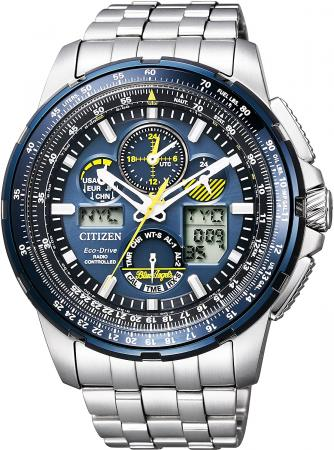CITIZEN PROMASTER Eco-Drive radio-controlled watch Sky Series Limited Blue Angels model JY8058-50L Men's